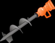 Erdbohrgerät zum Anbauen an Bagger mieten